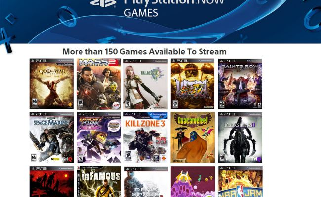 Playstation Now Rental Games