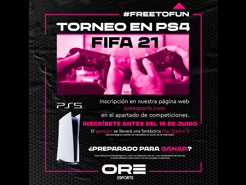 ORE Esports lanza su primer evento online con un torneo de FIFA 2021. La competición será gratuita y se disputará del 19 de junio al 4 de julio.