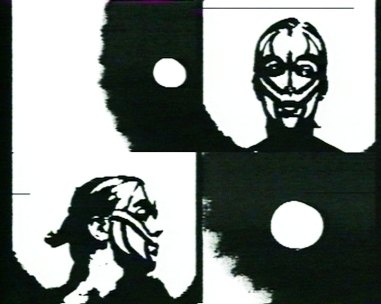 Still fra Kristin Bergausts video Egg, 1987