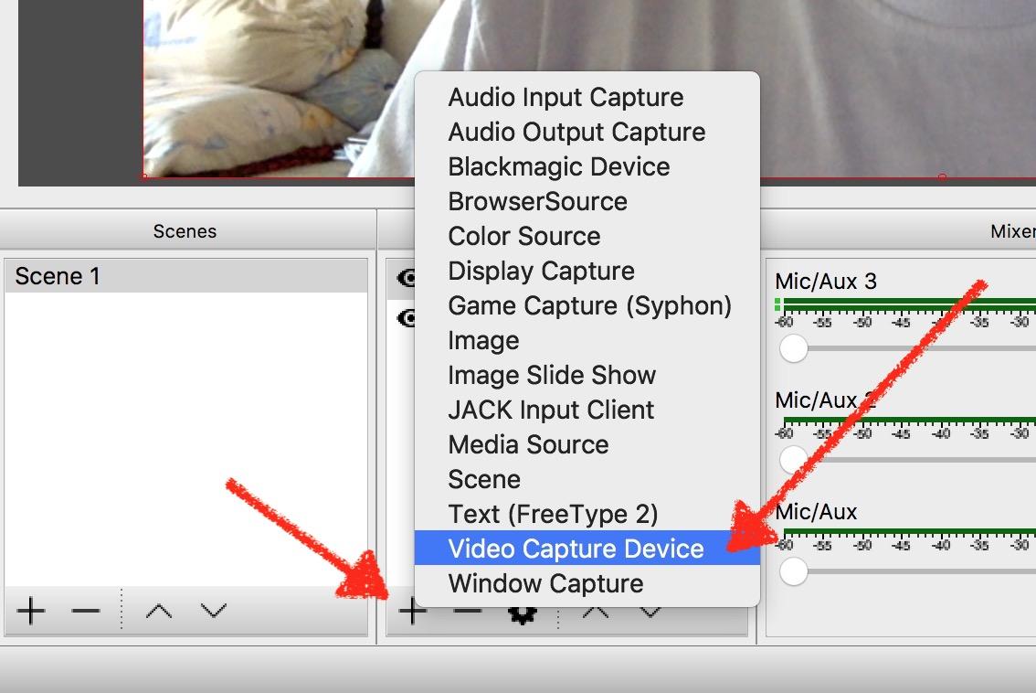 Add Video Capture Device in OBS Mac 2018 - VIDEOLANE ▶︎▶︎