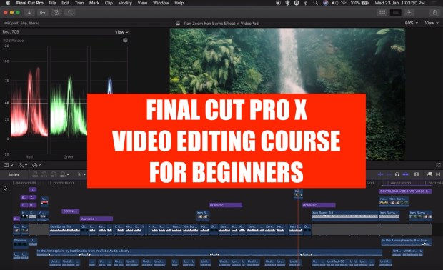 Final Cut Pro X 2019 Video Editing Course for Beginners [in