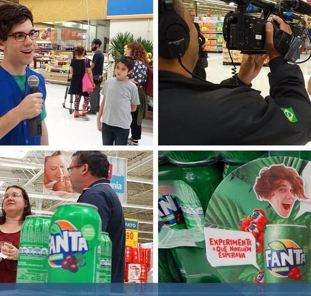 Campanha de lanamento do novo refrigerante da Empresa CocaCola Fantahellip