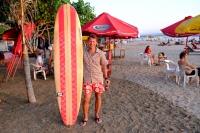 Videonauts Bali Kuta beach surfboards backpacking