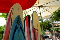 Videonauts Bali surfboard Kuta Beach backpacking