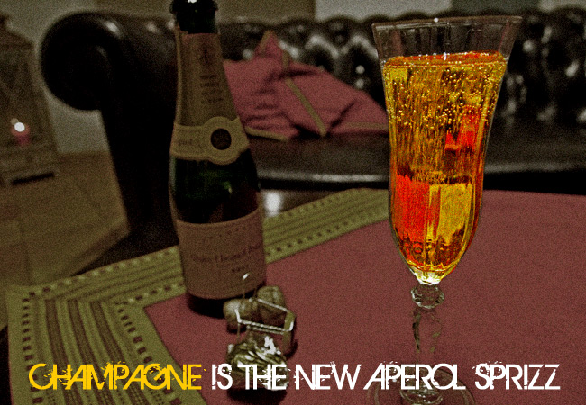 videonauts lifestyle champagne is the new aperol sprizz