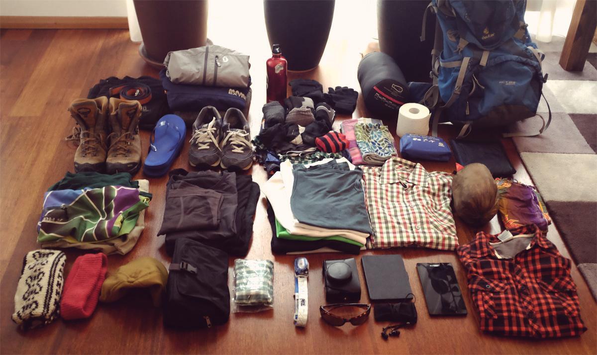 Videonauts 2016 Sabbatical Packliste Asien und Trekking
