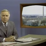 Walter Cronkite on camera