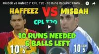 hafeez vs Misbah in CPL