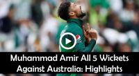 Amir 5 wickets Australia WorldCup Hightlights