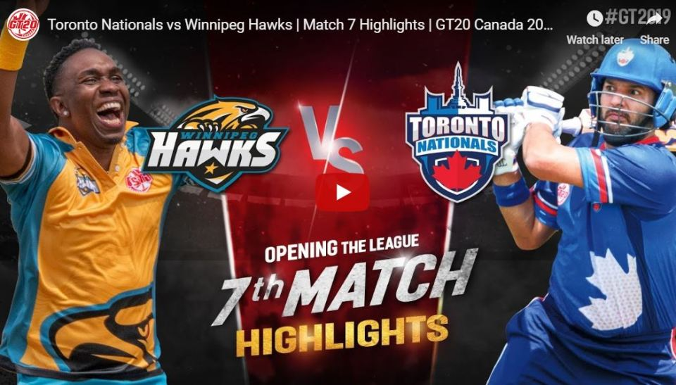 GT20 7th match Highlights