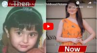 Hania Aamir Then Now Childhood