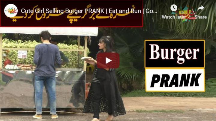 Girl Burger Prank Nimra Pakistan