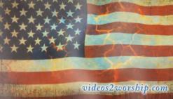 Grunge Waving Flag: Patriotic Background