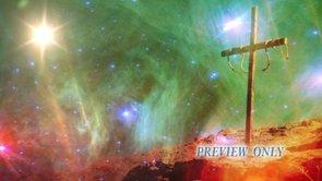 Cross And Space Worship Video Loop