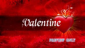Valentine Title: Red Heart Background