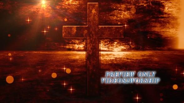 easter grunge cross worship motion background
