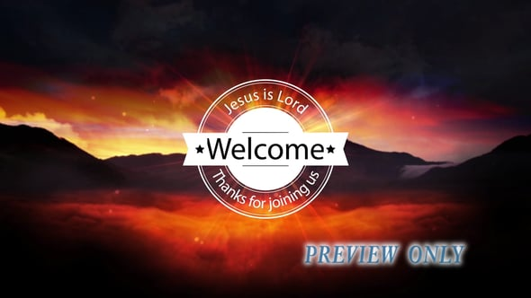 Sunrise Welcome Title Background