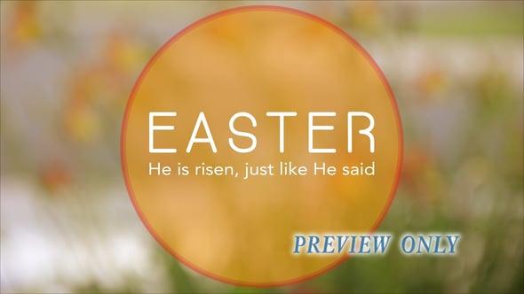 Easter Title: Jesus Is Risen