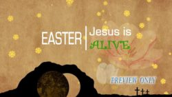 Jesus Is Alive Easter Background