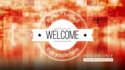 Welcome Church Media Background