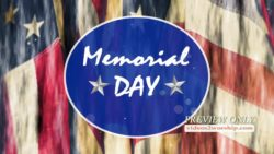 Memorial Day Flags And Text Motion