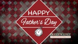 Happy Fathers Day Background Text