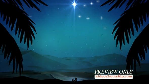 Christmas Nativity Scene Background