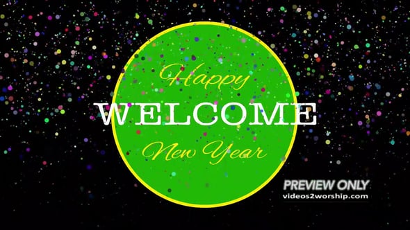 welcome happy new year text background