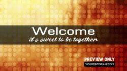 Sweet Church Welcome Background