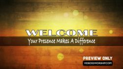 Welcome To Worship Text Backdrop