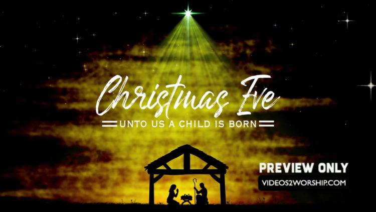 christmas nativity background stock motion graphics