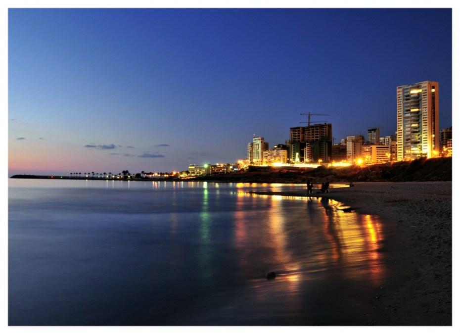 beach at night horizon sunset photography