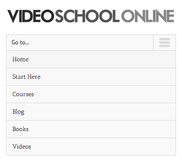 video school online responsive menu