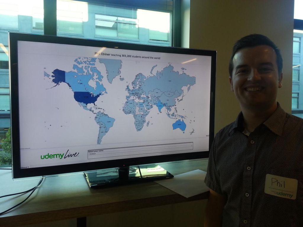 phil ebiner udemy teaching around the globe