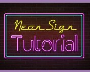 after effects neon sign tutorial