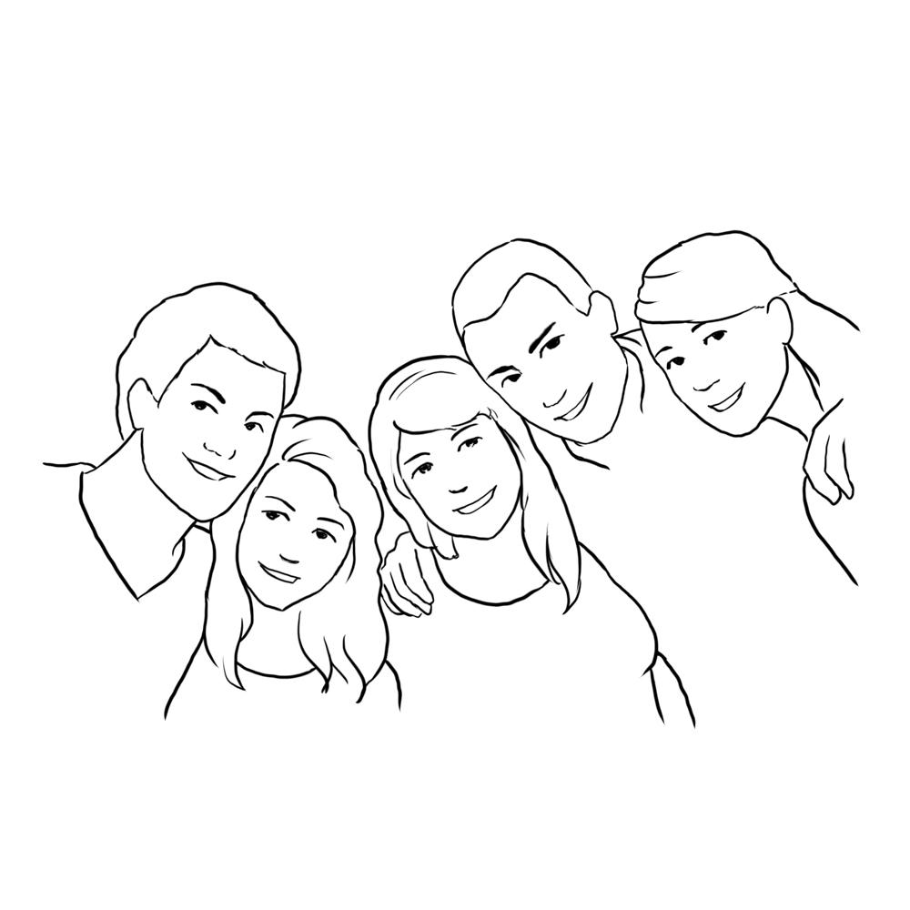 family posing ideas from video school online