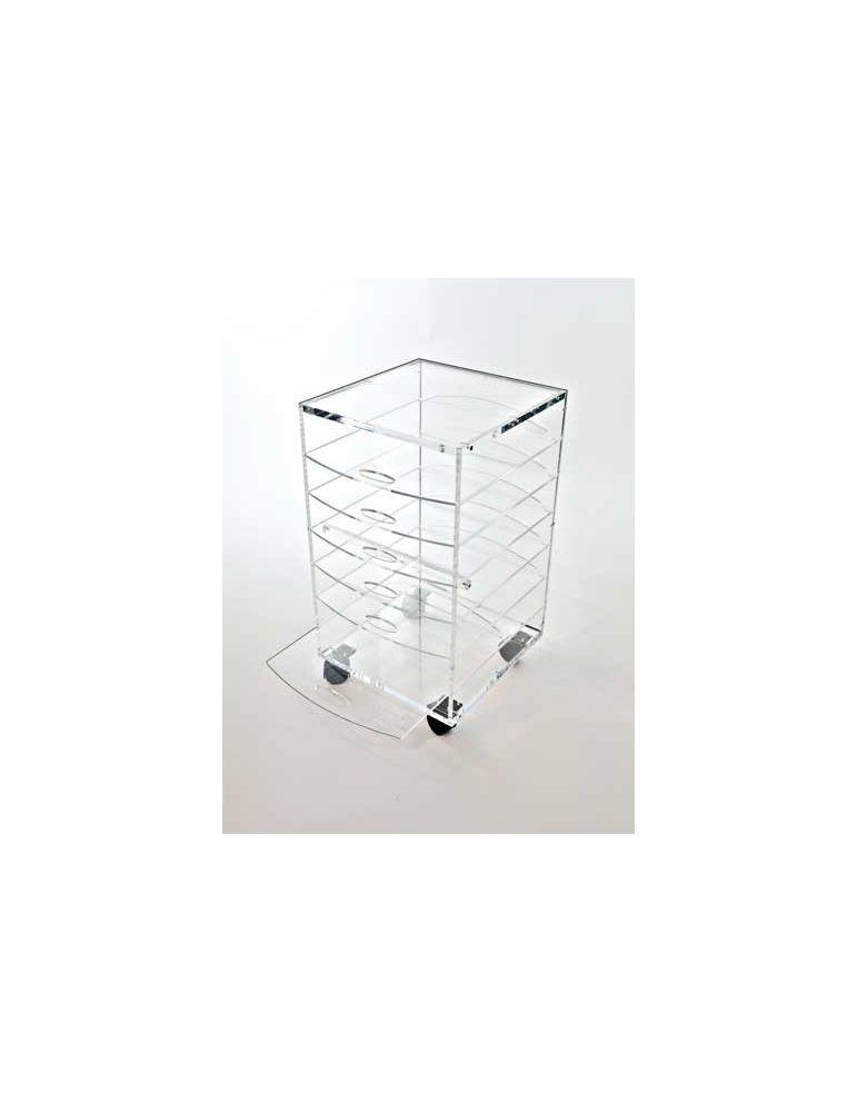 meuble de bureau en plexiglas sur roulettes 39x35 hauteur 63cm ref flxcrl 228 00 flxcrl tables basses et dessertes