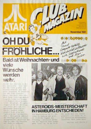 Ausgabe vom November 1981. (Bild: Atari)