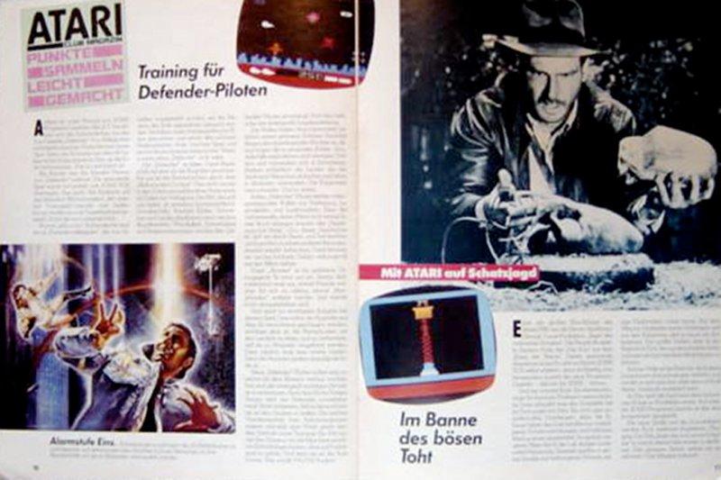 Der Bericht über das VCS-Spiel Raiders Of The Lost Ark wurde mit Illustrationen von Indiana Jones geschmückt. (Bild: Atari)