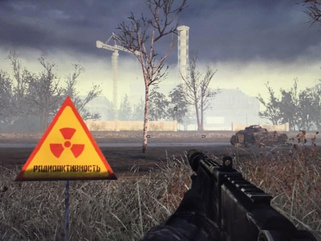 """Blick auf den Reaktor in der Modern Warfare Karte """"Wasteland"""". (Bild: André Eymann)"""