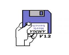 Aufforderung zum Einlegen der Workbench-Diskette. (Bild: Stephan Ricken)