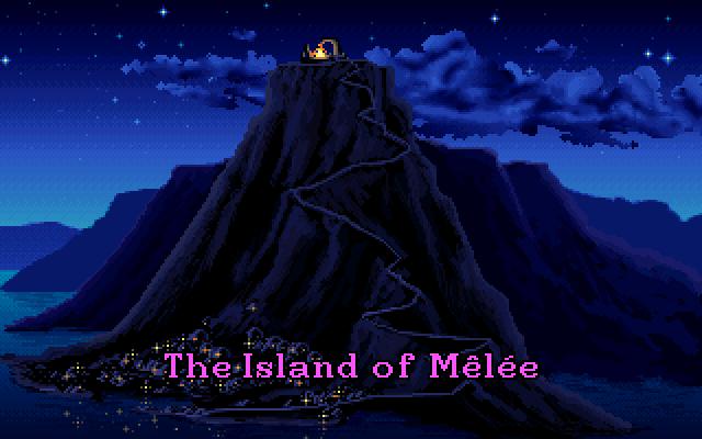 Mehr Speicher. Mehr Spiel. Auf dem Amiga 500 mit überdurchschnittlich viel RAM ziehen bei The Secret of Monkey Island im Intro Wolken sanft an der titelgebenden Insel vorbei. (Bild: Andreas Wanda)
