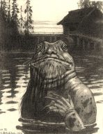 Vodyanoy von Iwan Jakowlewitsch Bilibin (1934) (Bild: Wikipedia)