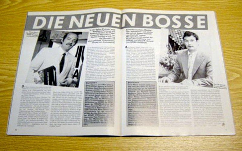 Die neuen Bosse. Ein Artikel über Atari und Intellivision in der Telematch Erstausgabe Januar von 1983. (Bild: Marshall Cavendish)
