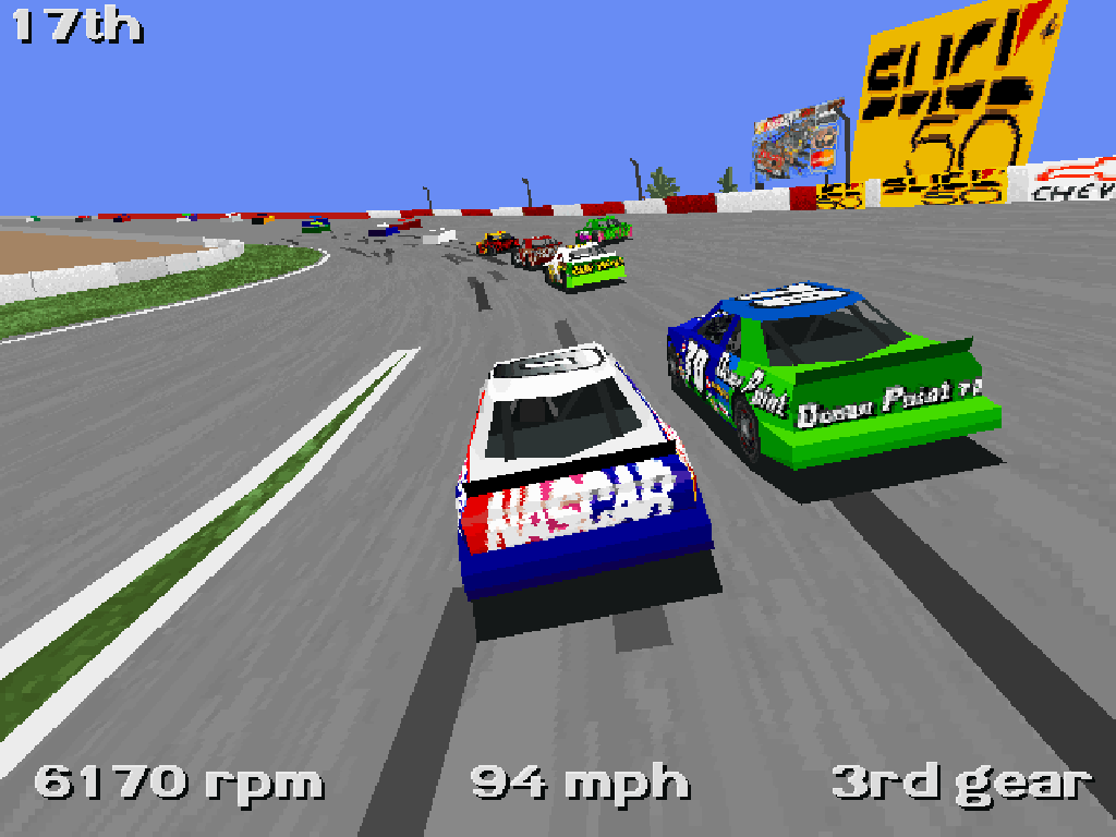 Nascar Racing in SVGA. (Papyrus, 1994)