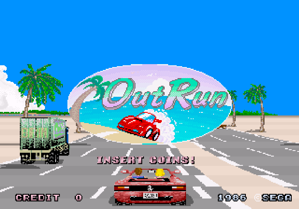 Der Fun-Cruiser Out Run von Sega. (Arkaden, 1986)