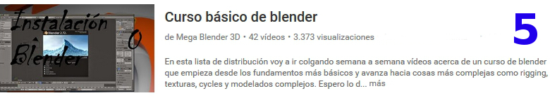 curso del software libre blender en youtube