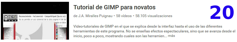 curso del software libre gimp en youtube