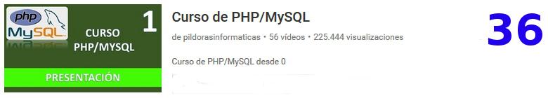 curso PhP mySQL en youtube