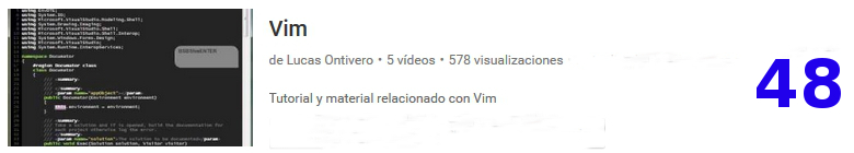 curso de VIM en youtube